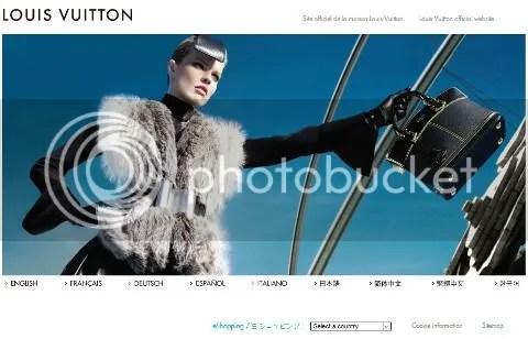 Louis Vuitton Landing Page: 9/26/08