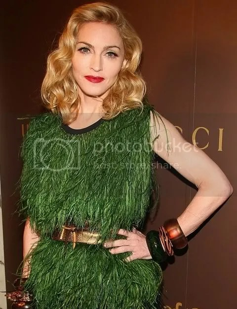 Madonna at Gucci's Tatoo Heart Collection Launch