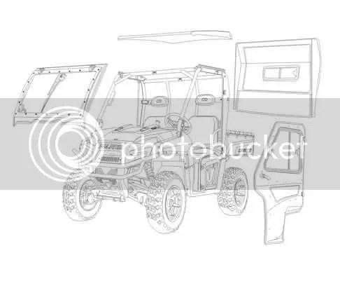 2009-2012 Polaris Ranger 700 800 XP HD Diesel Curtis RCS