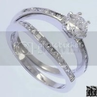 1 Ct Swarovski Crystal Engagement Wedding Ring Set SZ 6 | eBay