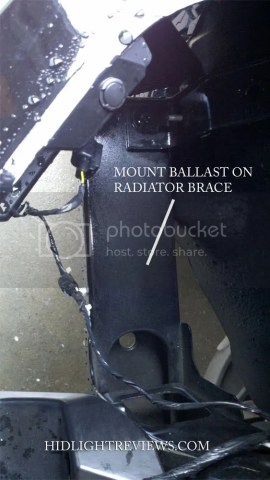 where to mount hid ballast