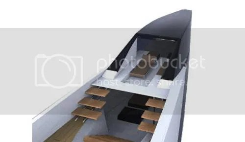 Yacht with V-Hull Design Submarine