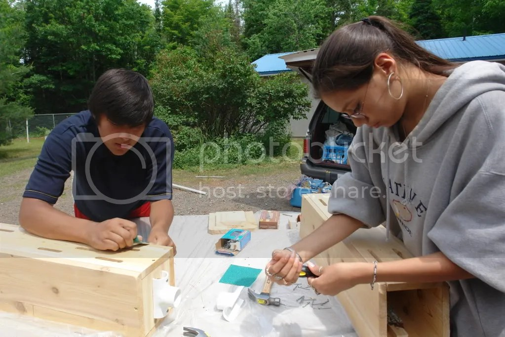 Keweenaw Bay Indian Community,KBIC,tribal youth,youth,bees,butterflies,butterfly houses,bee,2008
