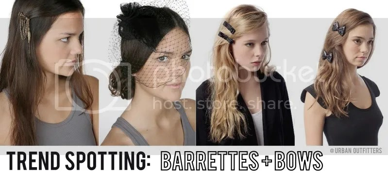trend,hairstyle,bows,barrette,urban outfitters