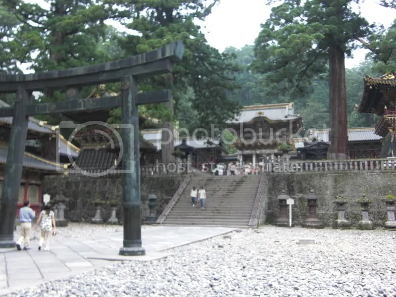 The courtyard with steps leading to the 2nd gate of Toshogu Shrine