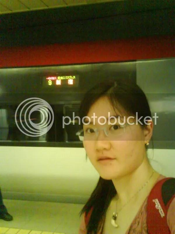 Narita Express at platform 9 heading to Shinjuku