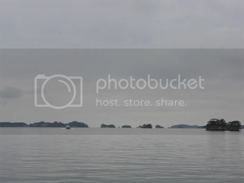 Islands of Matsushima- taken from the port. Eew, wheres the sun and blue waters?