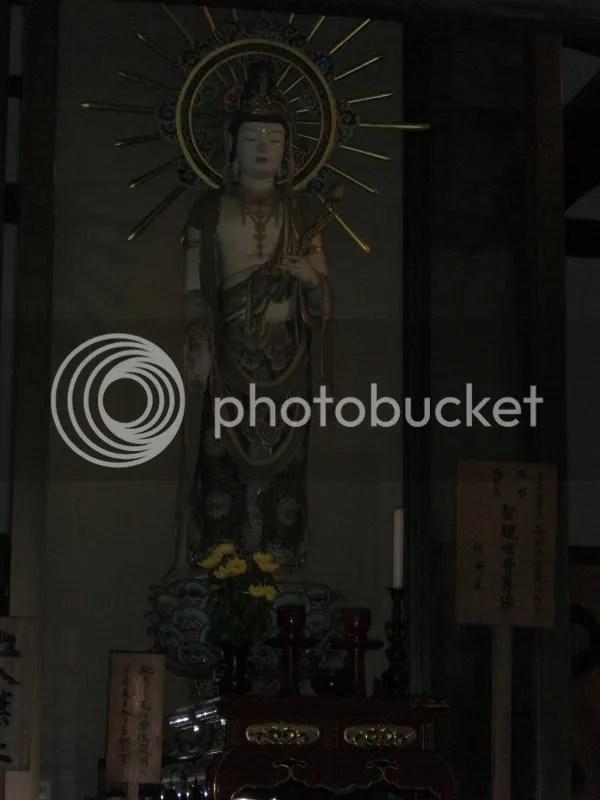 Goddess of Mercy housed opposite of Seiryuden