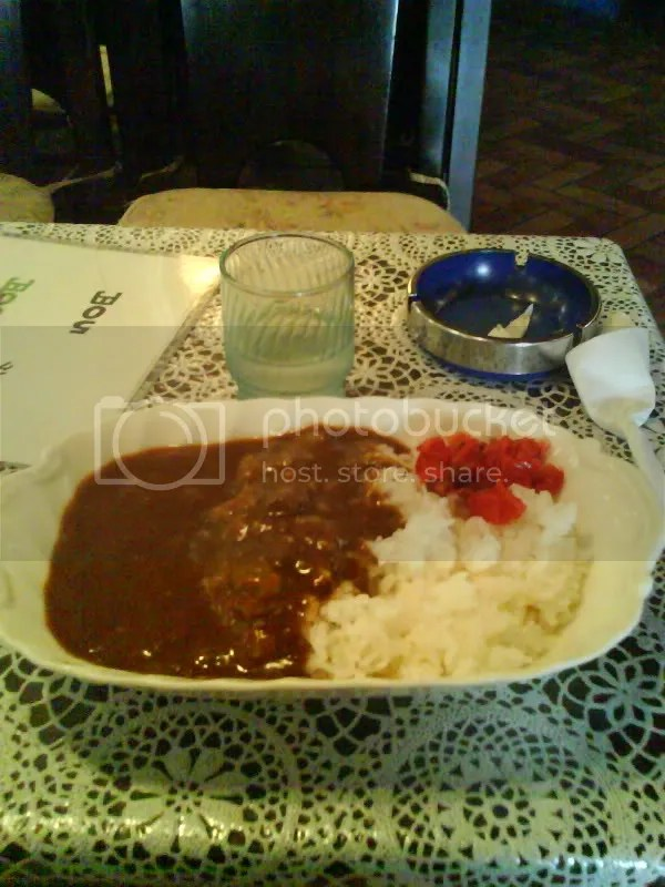 Delicious curry rice (abt SGD 8)