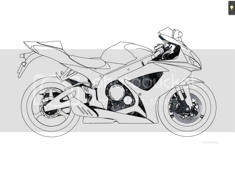 Suzuki 1000 Motorcycle Outline Drawing Sketch Coloring Page