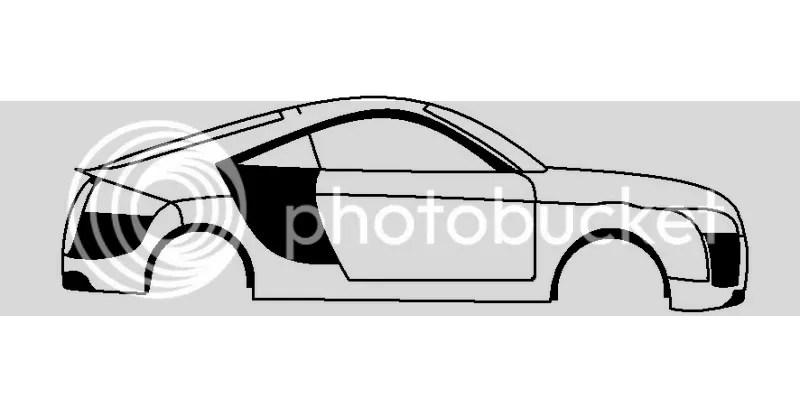 Audi TT drawing template