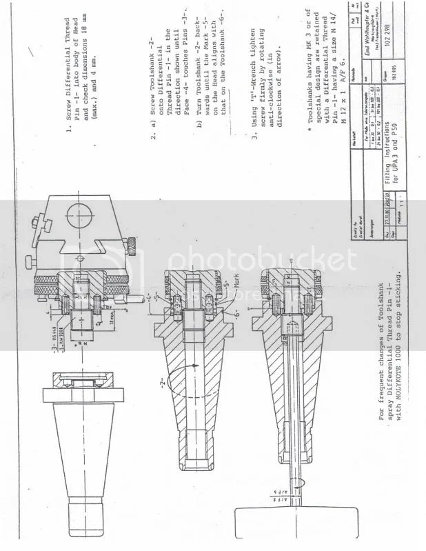 Wolhaupter boring head question