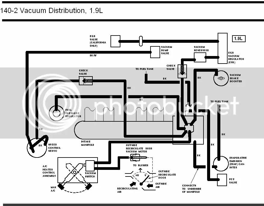 Vacuum Hose: Vacuum Hose Diagram Ford Escort Zx2
