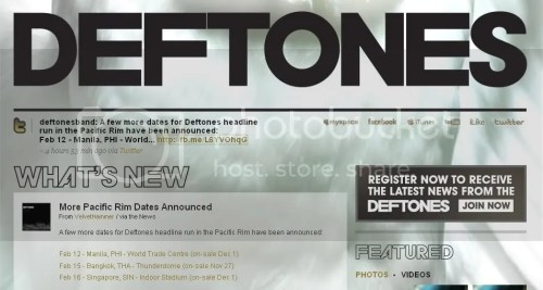 Deftones' website