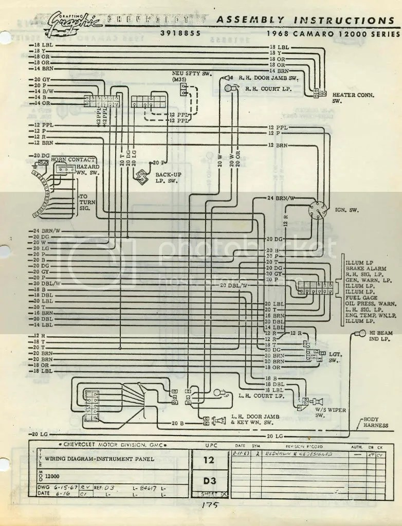 medium resolution of 68 camaro dash gauges wiring diagram 68 free engine 1980 camaro fuse panel 68 camaro exhaust