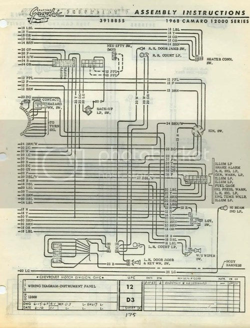 small resolution of 68 camaro dash gauges wiring diagram 68 free engine 1980 camaro fuse panel 68 camaro exhaust