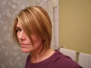 Jennifer's new hair, by Jennifer!