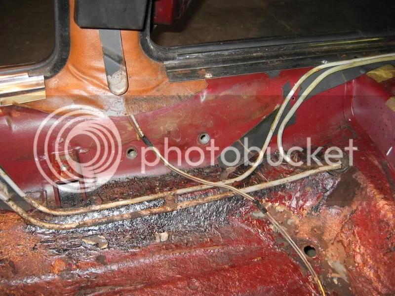 Lancia Beta rusty fuel lines