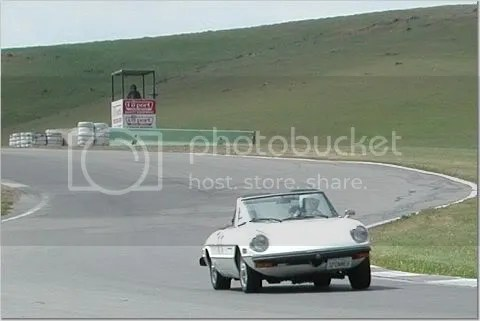 1977 Alfa Romeo Spider Veloce at the track, 2001