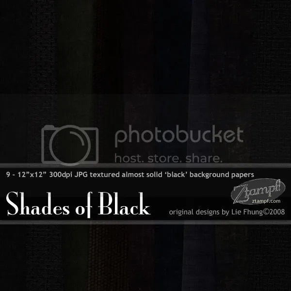 Ztampf! Shades of Black Paper Pack