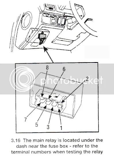 1992 Honda accord main relay problems