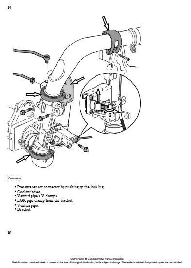 Volvo FM D13B 440 Specifications Engine parts