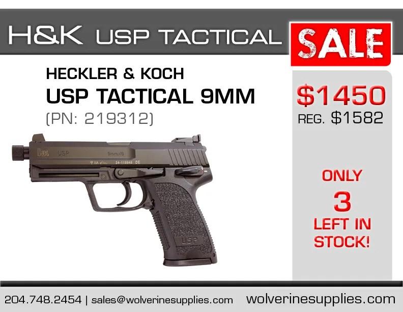 H Amp K Usp 9mm Tactical On Sale