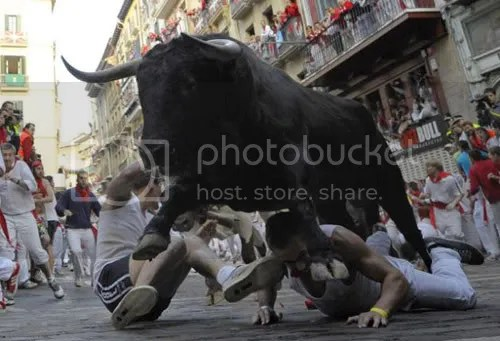 Pamplona, running of the bulls