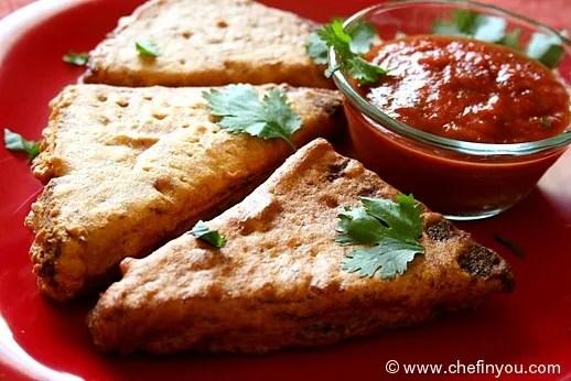 Indian Stuffed Bread Pakoda/Pakora recipe