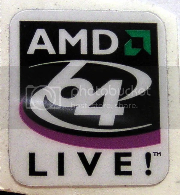 AMD 64 LIVE! 19mm x 21mm (limited quantity)