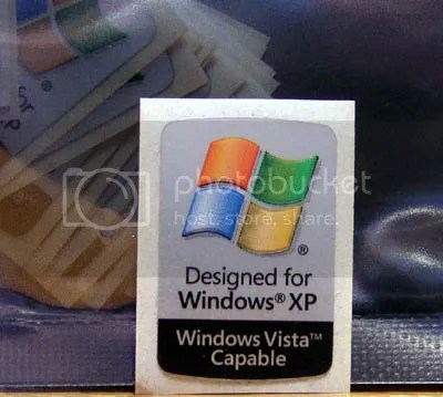 Designed for Windows XP Windows Vista Compatible METALLIC shiny background 17mm x 25mm