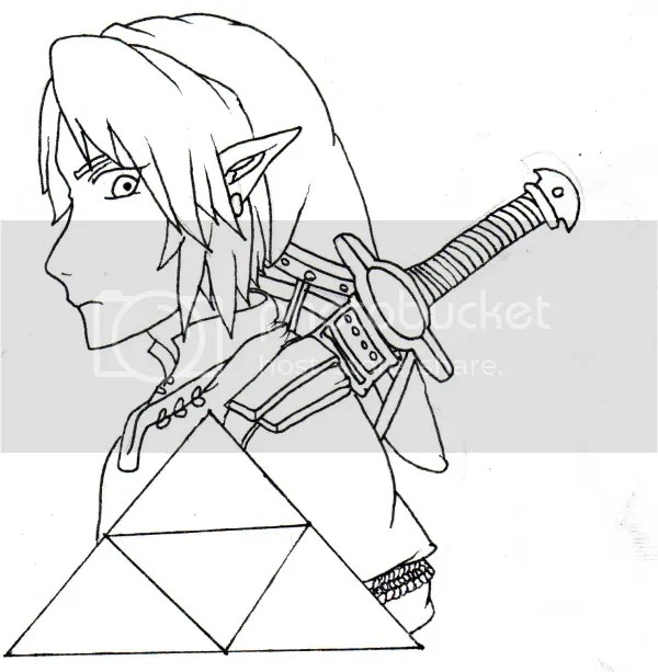 Legend of zelda coloring pages / Link coloring pages