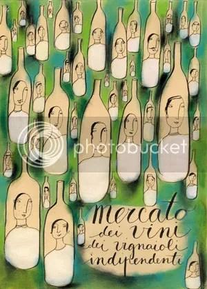 Mercato dei vini dei vignaioli indipendenti - illustrazione di Monica Zani
