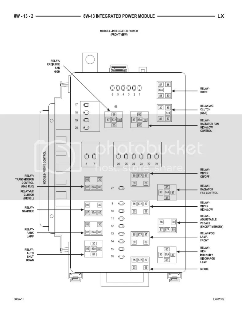 medium resolution of 2012 dodge challenger fuse box wiring diagram third level 2008 dodge nitro fuse diagram 2009 dodge challenger fuse diagram