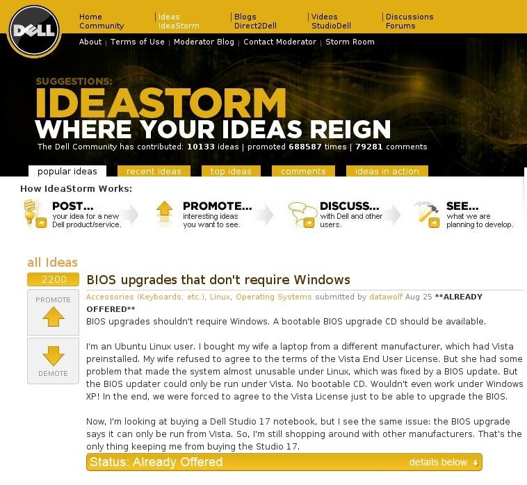 Dell IdeaStorn