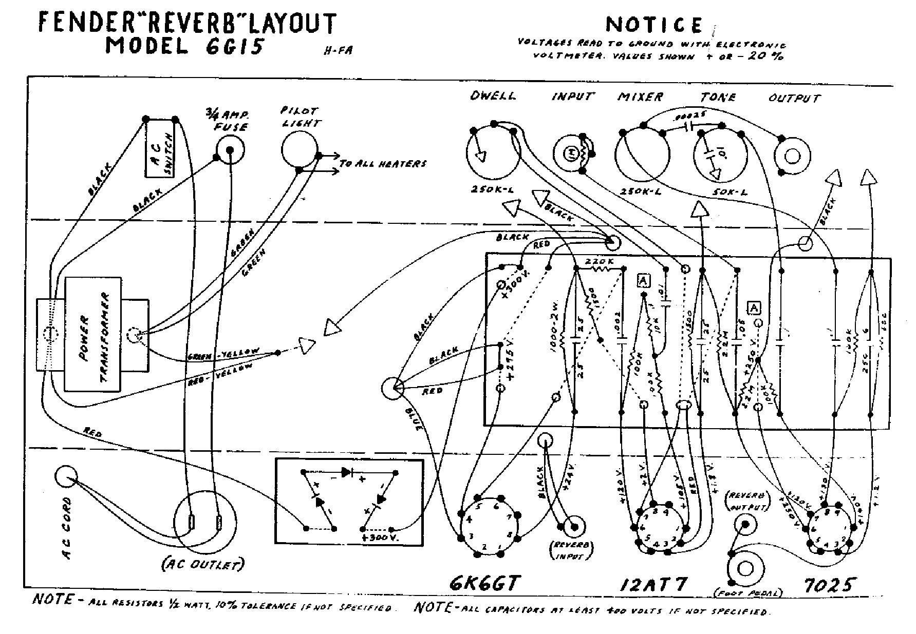Fender Reverb Unit Noise Hiss Problem