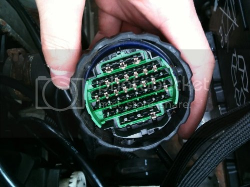 small resolution of large single plug late pin layout again some early mk2 models use