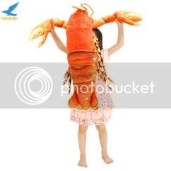 Child Size Leather Sofa Denim Slipcover Sectional Crayfish Crawfish Lobster Plush Toy Realistic Stuffed Doll ...