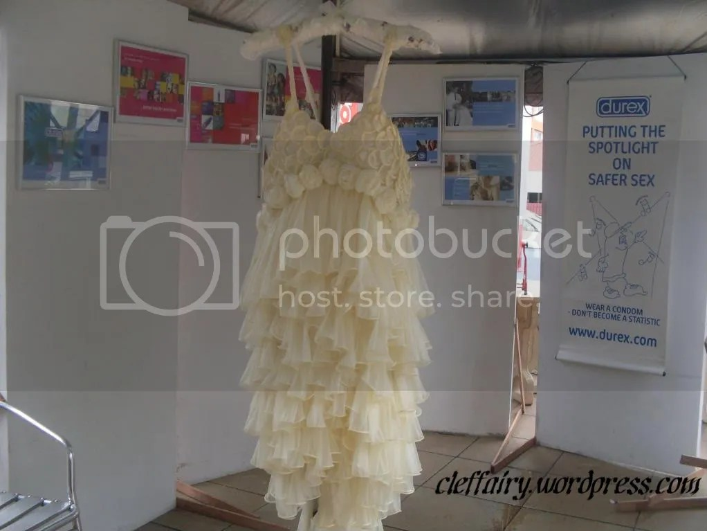 The dress thats made from condoms. Very sexy and alluring.