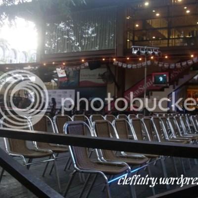 The empty venue, 30mins before concert