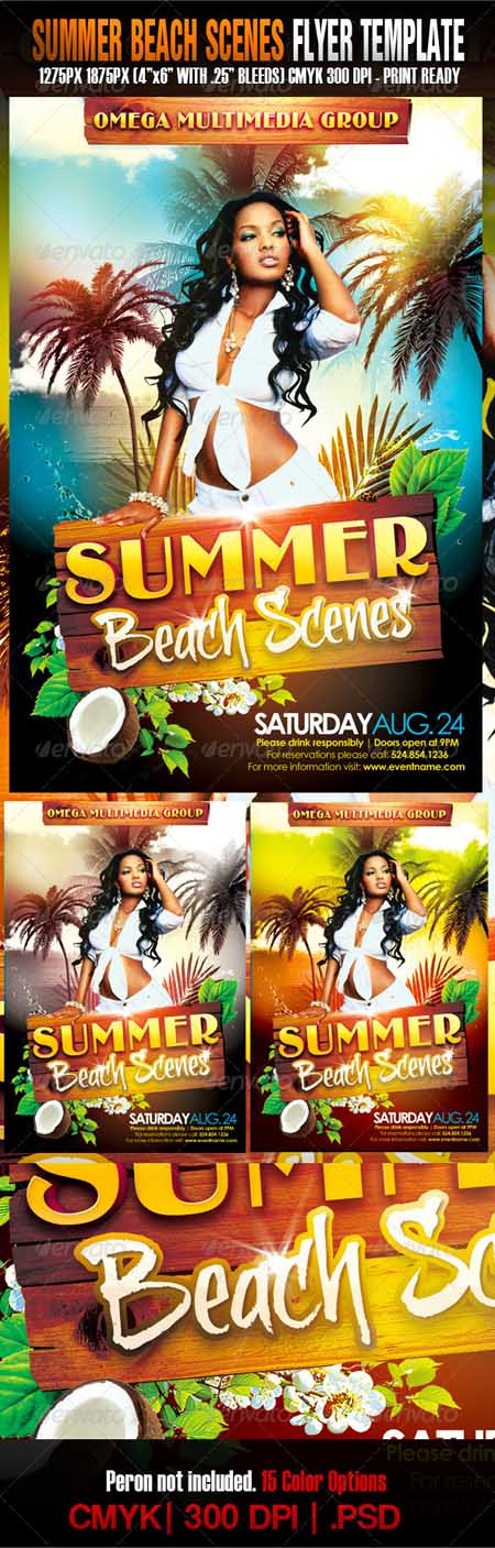 Graphicriver - The Summer Beach Scenes Photoshop Template