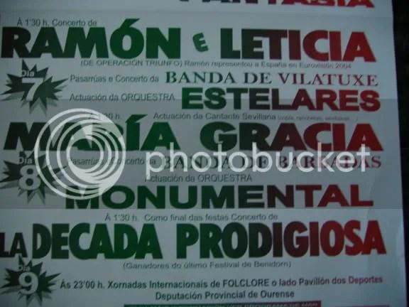Cartel festas Maceda 2006