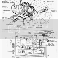 1987 Toyota Pickup Vacuum Line Diagram Trailer Light Wiring Nz 22r Better Yet Jpg S Of Yours Stock Only Please This Is The One From Repair Book For A 4runner I Think It Canadian Version But Might Help