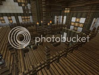 minecraft inn medieval floor build dining hall main upper viewed forums