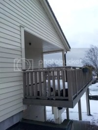 Partial roof over deck