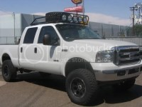 Roof Rack Spare Tire Mount With Lights Photo by