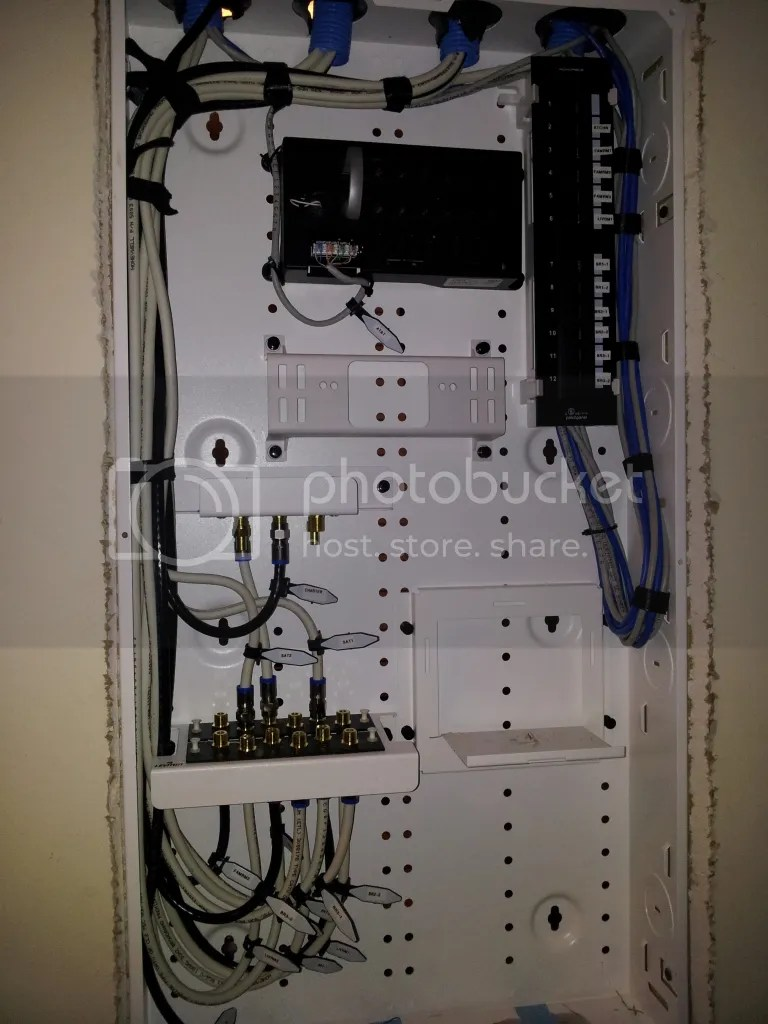 Structured Wiring On Structured Wiring Enclosure