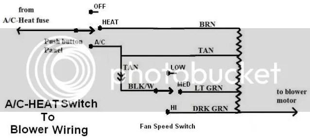 Heater blower motor wiring