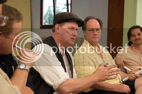 Michael Schmidt speaks to cow-share members August 2009