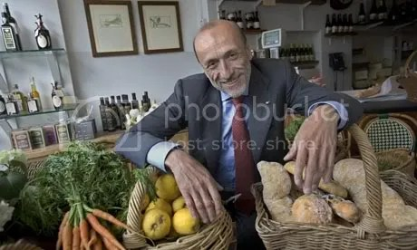 Slow food movement founder Carlo Petrini. Photo: Barry Lewis/Corbis - The Guardian